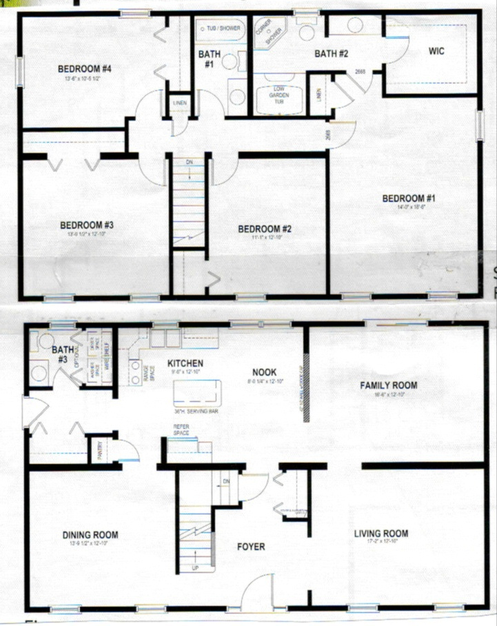 Two story house plans for Two story house floor plans free