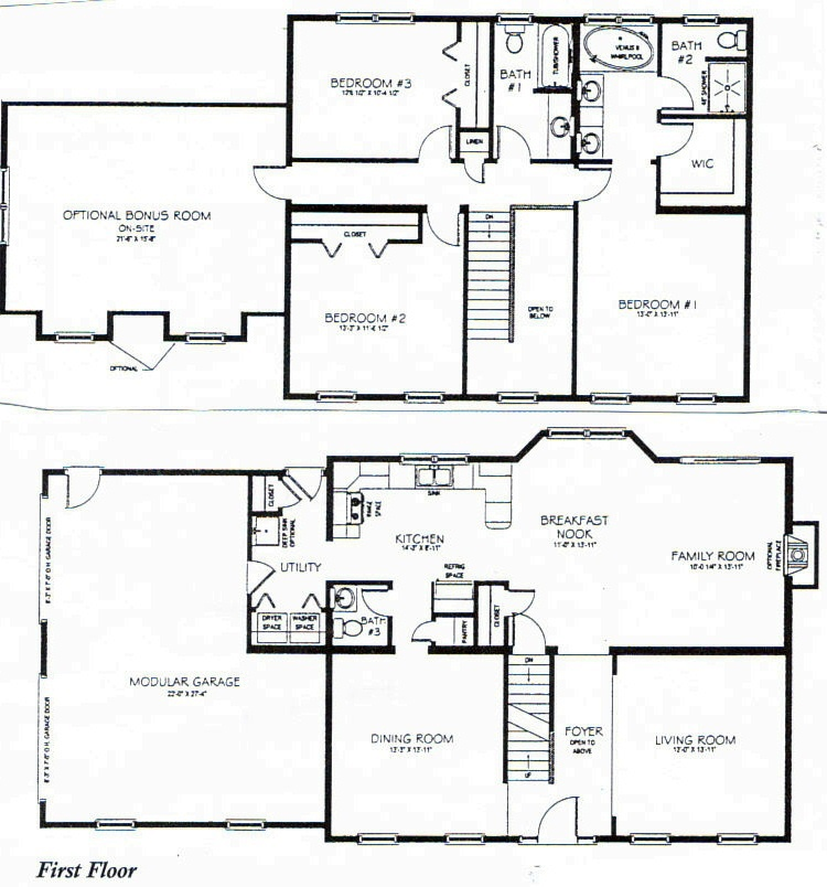 House plan 2755 woodbridge floor plan traditional 1 12 for Best two story house plans