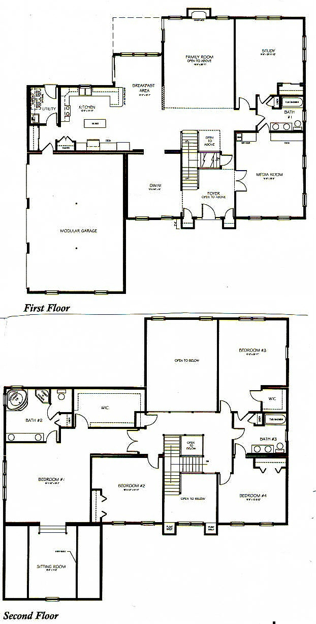 Two story house plans for 3 bedroom 2 story house plans