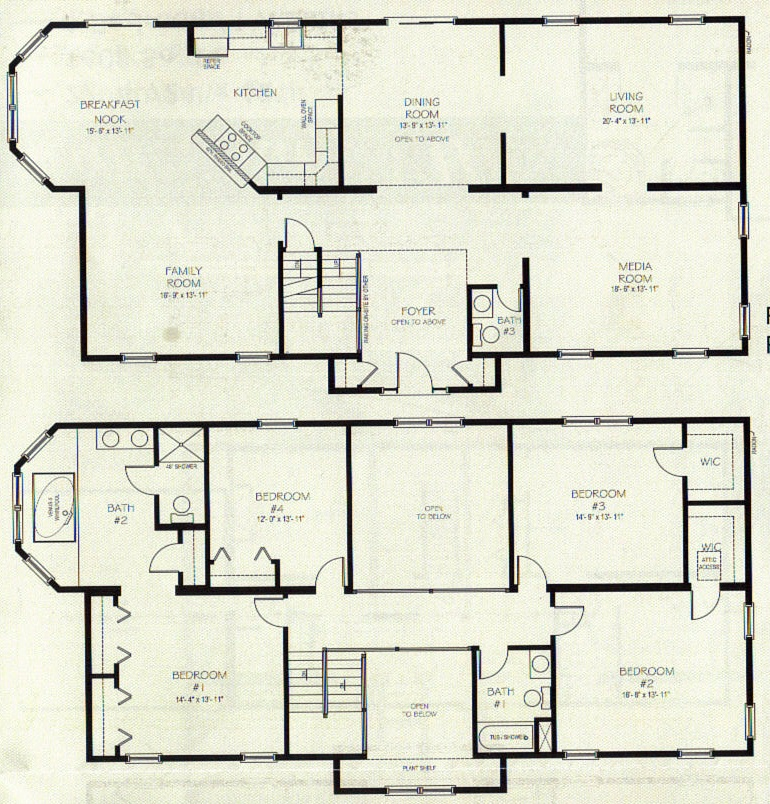 Two storey house plans on pinterest double storey house Blueprint homes floor plans